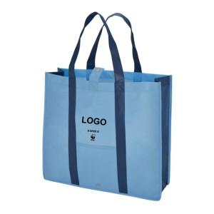 Folding Shopper snap closure - Blue