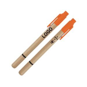 Recycled Paper pen highlighter - Orange
