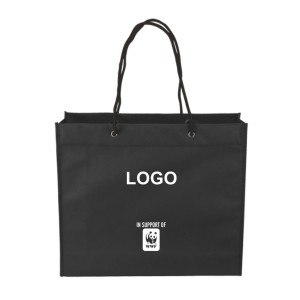 Wide Shopper with carry handles - Black