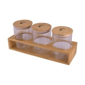 14 3-Piece Storage Jars & Stand