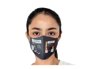 Be Safe 3 Layer Beak Mask-Ladies - Wash Hands from Boland Promotions
