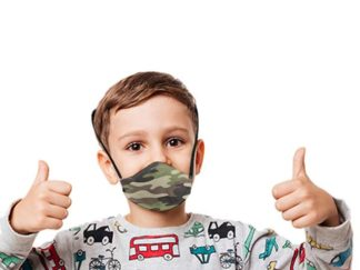 Boomer Camo 3 Layer Beak Mask For Kids Age: 4-8Years from Boland Promotions