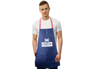 Cheff Denim Apron With Three Division Pocket And Sublimated Straps from Boland Promotions