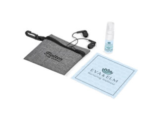 Eva & Elm Brina Cellphone Cleaner And Earbuds Set from Boland Promotions