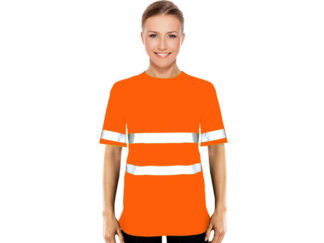 Ladies Jesny Moisture Management Crew Neck Safety T-Shirt With Reflective Strips from Boland Promotions