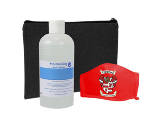 Boomer Sanitiser And Mask 500Ml Set from Boland Promotions