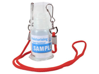 Cord Pouch Lanyard With 50Ml Sanitiser from Boland Promotions